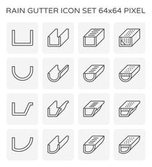 rain gutter icon