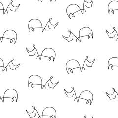 Rhinoceros pattern seamless