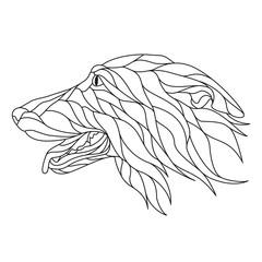 illustration linear dog