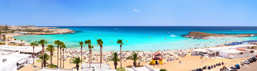 Panorama of Nissi Beach. Ayia Napa. Cyprus.