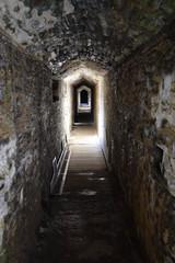 Castle battlement corridor