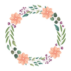 wreath flowers leaves ornament decoration nature