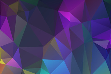 Cool purple, blue abstract background of triangles.