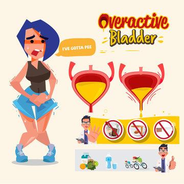 Overactive Bladder graphic information - vector