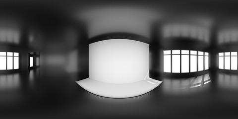 HDRi map black room light source for 3D rendering or VR Wall mural