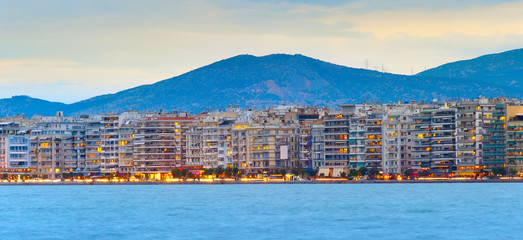 Fototapete - Thessaloniki waterfront panoramic view, Greece
