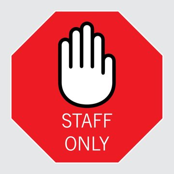 staff only, vector sing
