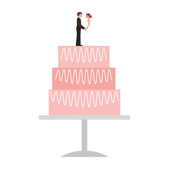 wedding cake isolated icon