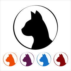 Cat icon  on white background