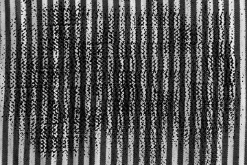 Grunge dirty Black and white closeup of stripped fabric texture