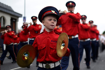 Members of a Loyalist Order participate in Twelfth of July celebrations in Belfast