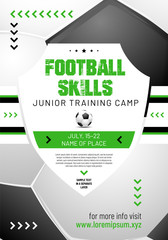 Template for your football or soccer design with sample text