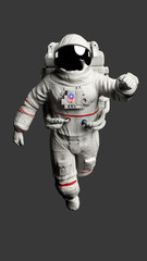 Astronaut Isolated on Gray