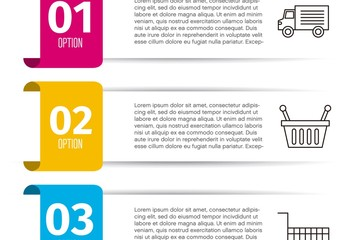 Grocery Store Infographic Layout