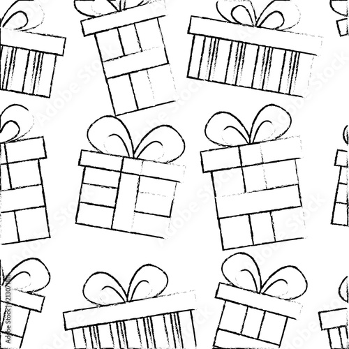 Birthday Gift Box Wrapped Ribbon Pattern Stock Image And Royalty