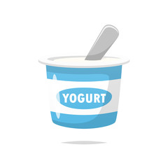 Yogurt vector isolated