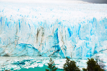 Vertical edge of glacier Perito Moreno