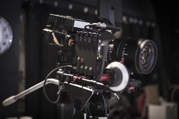 Cinema lens on set