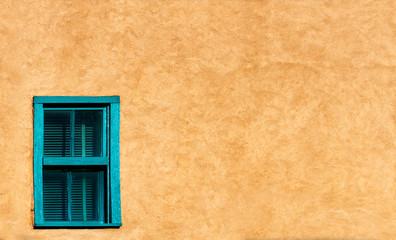 Turquoise Santa Fe Style Window