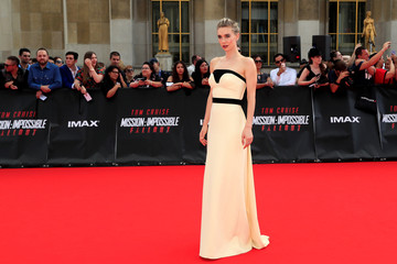 """Cast member Vanessa Kirby poses during a photocall for the world premiere of """"Mission: Impossible - Fallout"""" in Paris"""