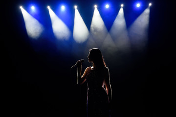 Singer woman on stage