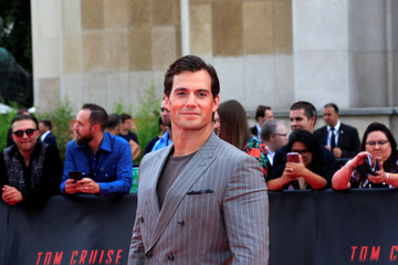"Cast member Henry Cavill poses during a photocall for the world premiere of the film ""Mission: Impossible - Fallout"" in Paris"