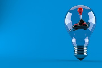 Joystick inside light bulb