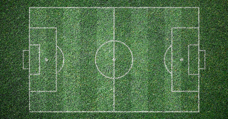 Soccer Field Lines Grass Texture Background