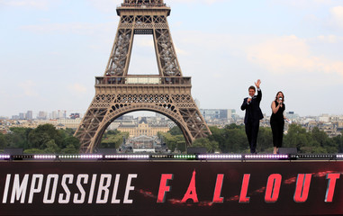"""Cast member Tom Cruise attends the world premiere of the film """"Mission: Impossible - Fallout"""" in Paris"""