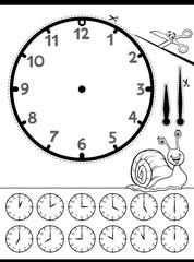 clock face educational worksheet for kids