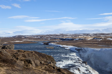 Looking out at the Hvita River in Iceland