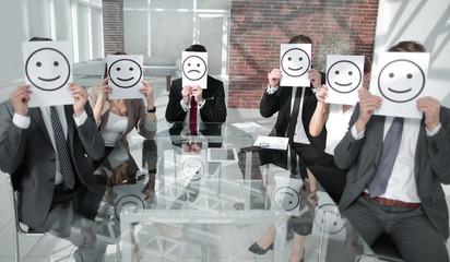 Business Team Feeling Happy