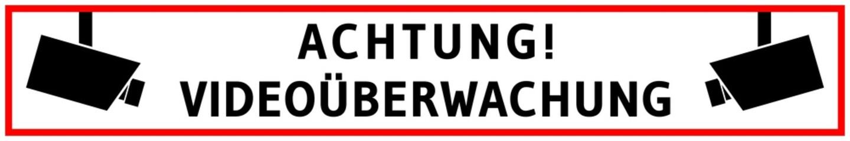 vss60 VideoSurveillanceSign vss - Achtung Videoüberwachung. Hinweis Zeichen Piktogramm - banner 6zu1 - rot schwarz - xxl g6299