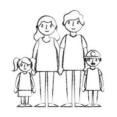 happy family avatars characters