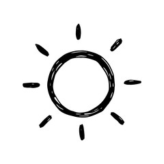 sun with rays vector. isolated drawing