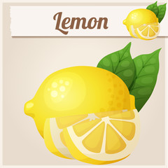 Lemon. Cartoon vector icon