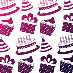 birthday cake cupcake party hat gift pattern