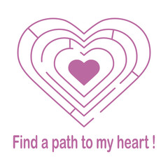 Labyrinth to the heart. Valentine's Day