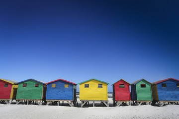 Colorful houses in Muizenberg.