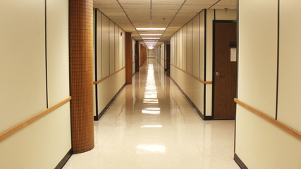 Empty Hallway After Hours