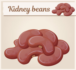 Kidney beans icon. Cartoon vector illustration. Series of food and drink and ingredients for cooking