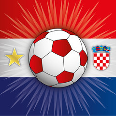 Croatia flag with football world cup symbols, 2018