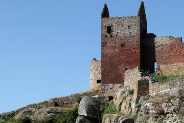 Hammershus Castle Ruin. Located on the island Bornholm, Denmmark