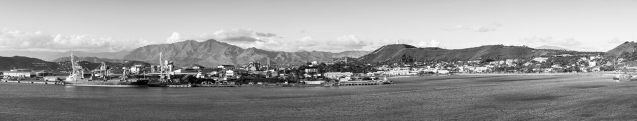 Noumea New Caledonia Panorama Black and White