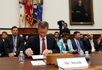 FBI Deputy Assistant Director Peter Strzok testifies before the House Committees on Judiciary and Oversight and Government Reform joint hearing in Washington, U.S.