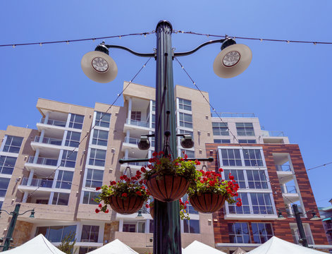 Lamp at Little Italy Farmers Market, San Diego.