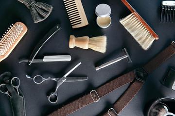 Barber Shop Tools And Equipment. Men's Grooming Tools