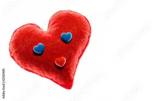 Close Up Soft Red Heart Emotion With Blue Eyes A Symbol Of Love