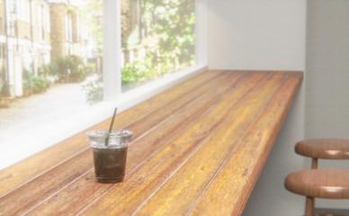 アイスコーヒー カフェ カウンター