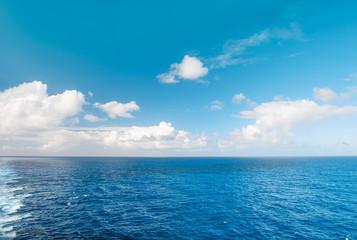 Sea water blue sky white clouds Nature landscape